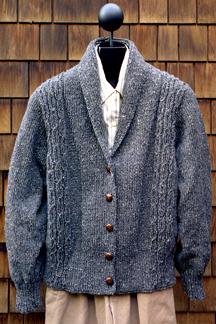 Worsted Weight Shawl Collar Sweater