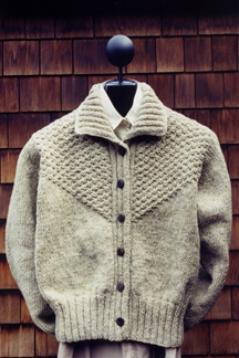 Moss Stitch Yoke Jacket