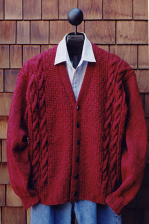 Men's V Neck Cardigan