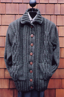 Cabled  Coat Jacket