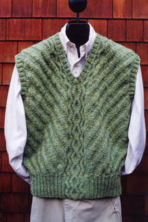 Cabled Pullover Vest