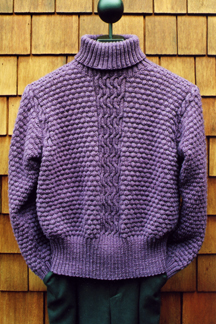 Lattice Cable Turtleneck
