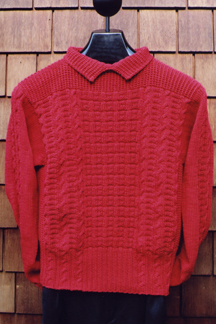 Patterned Collared Pullover