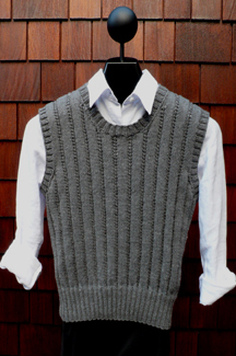 Ribbed Pullover Vest