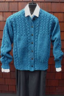 Cabled Yoke Crew Cardigan